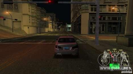 Indicateur de vitesse de Lada 2110 pour GTA San Andreas deuxième écran