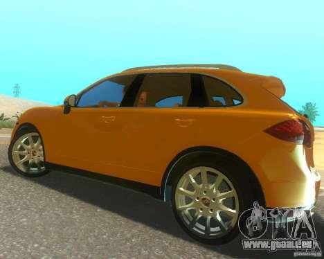 Porsche Cayenne 958 2010 V1.0 für GTA San Andreas obere Ansicht