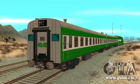 THE GO Transit Train für GTA San Andreas zurück linke Ansicht