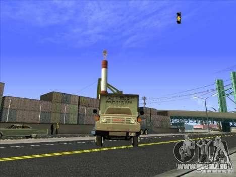 Yankee basé sur GMC pour GTA San Andreas vue arrière