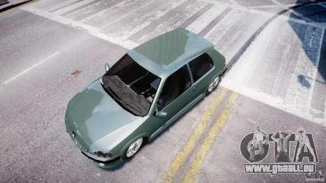 Peugeot 106 Quicksilver für GTA 4 Rückansicht