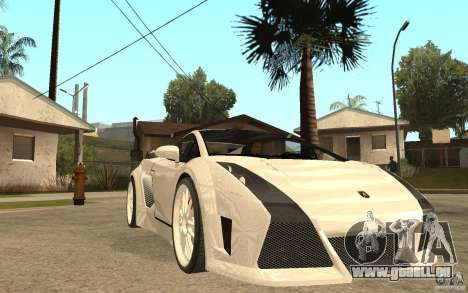 Lamborghini Gallardo MW für GTA San Andreas Rückansicht