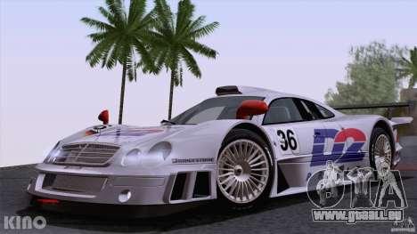 Mercedes-Benz CLK GTR Road Carbon Spoiler pour GTA San Andreas vue de côté
