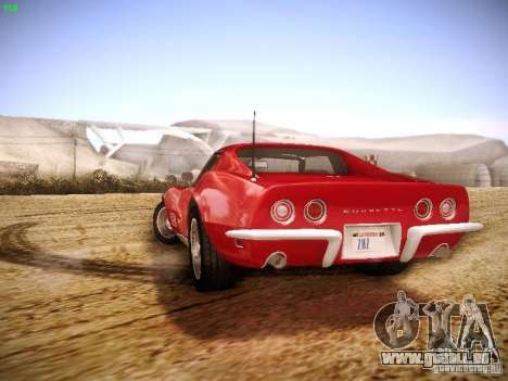Chevrolet Corvette Stingray 1968 für GTA San Andreas Innenansicht