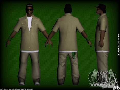 G.R.O.V.E. Skinpack für GTA San Andreas her Screenshot