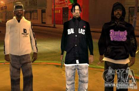 Bandes de remplacement, tatouages, vêtements, et pour GTA San Andreas cinquième écran