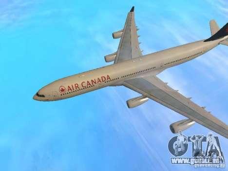Airbus A340-300 Air Canada pour GTA San Andreas vue de côté