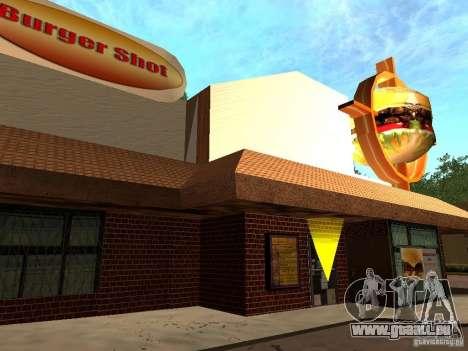 New Burger Shot pour GTA San Andreas deuxième écran