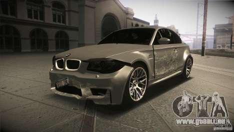 BMW 1M E82 Coupe 2011 V1.0 für GTA San Andreas obere Ansicht