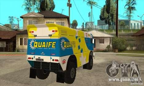KAMAZ 4911 Rally MASTER für GTA San Andreas Innenansicht
