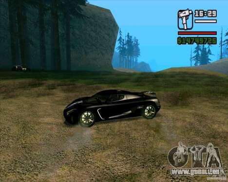 Koenigsegg Agera für GTA San Andreas linke Ansicht