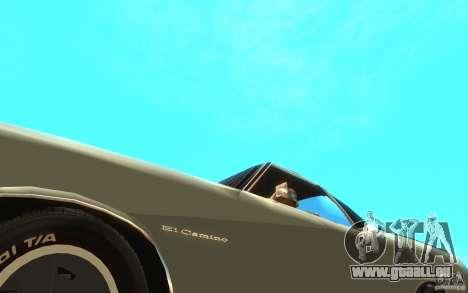 Chevrolet El Camino 1972 für GTA San Andreas Innenansicht