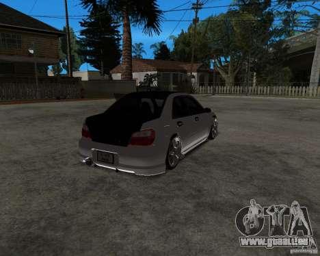 Subaru Impreza (exclusive) pour GTA San Andreas laissé vue