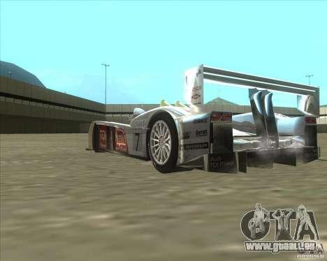 Audi R10 TDI pour GTA San Andreas vue arrière