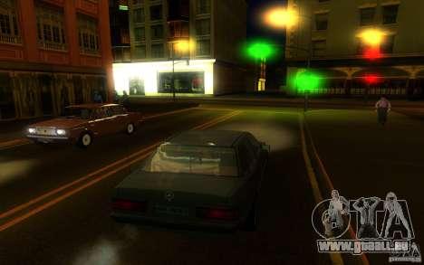 Mercedes-Benz 190E W201 pour GTA San Andreas sur la vue arrière gauche