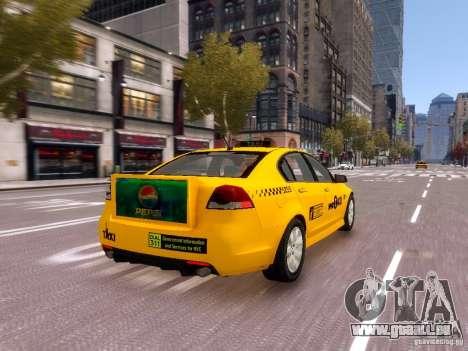 Holden NYC Taxi V.3.0 pour GTA 4 vue de dessus
