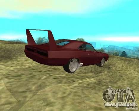 Dodge Charger Daytona für GTA San Andreas zurück linke Ansicht