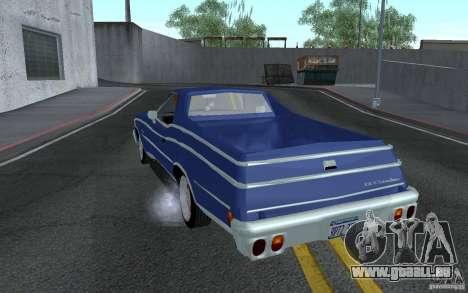 Chevrolet El Camino 1976 pour GTA San Andreas sur la vue arrière gauche