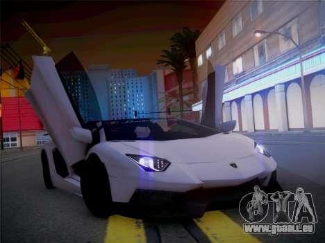 Lamborghini Aventador LP700-4 Roadstar pour GTA San Andreas vue arrière