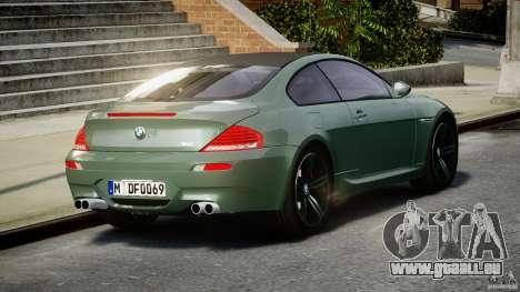BMW M6 2010 v1.5 pour GTA 4 Vue arrière de la gauche
