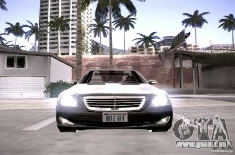 Mercedes-Benz S600 v12 pour GTA San Andreas vue intérieure
