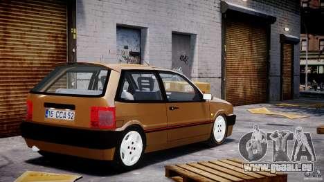 Fiat Tipo 1990 pour GTA 4 Vue arrière de la gauche
