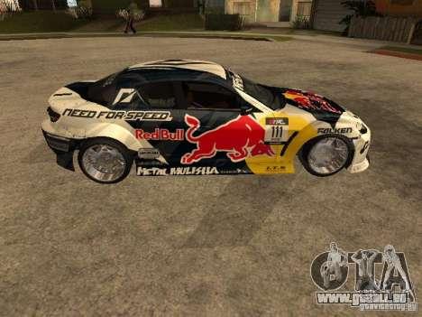 Mazda RX-8 RedBull pour GTA San Andreas laissé vue