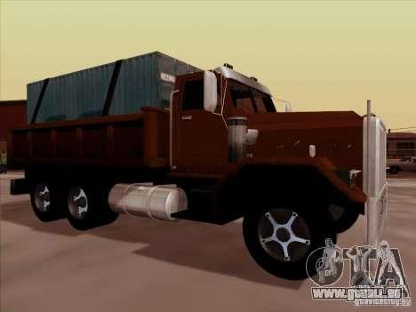 New Flatbed pour GTA San Andreas sur la vue arrière gauche