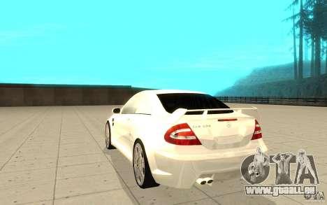 Mercedes-Benz CLK 500 Kompressor für GTA San Andreas zurück linke Ansicht
