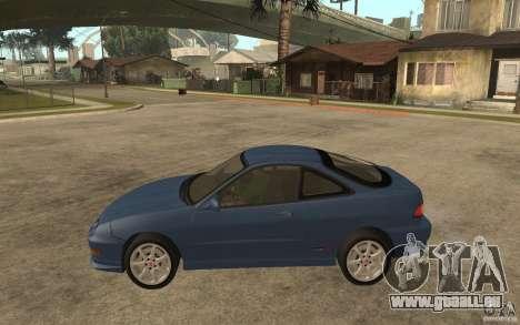 Honda Integra Type-R (Stock) pour GTA San Andreas laissé vue