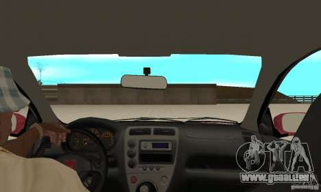 Honda Civic Type R - Stock + Airbags pour GTA San Andreas vue intérieure