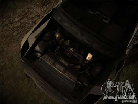 Dodge Ram 3500 4X4 pour GTA San Andreas vue de dessus
