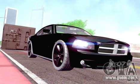 Dodge Charger Fast Five pour GTA San Andreas vue intérieure
