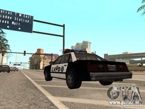 LVPD Police Car für GTA San Andreas rechten Ansicht