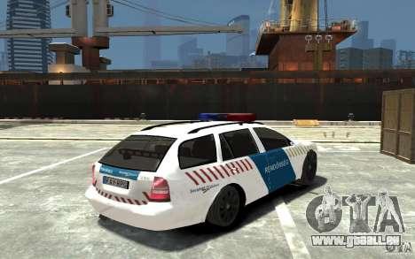Skoda Octavia Kombi 2005 Hungarian Police pour GTA 4 est un droit