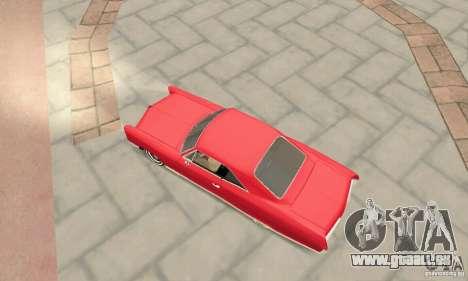 Pontiac Bonneville 1966 pour GTA San Andreas sur la vue arrière gauche