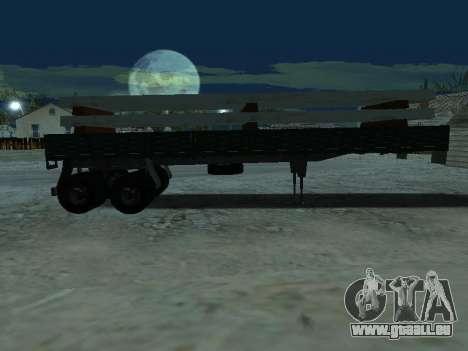Remorque pour Kamaz 5410 pour GTA San Andreas vue de côté