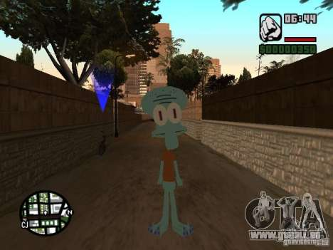 Squidward pour GTA San Andreas deuxième écran