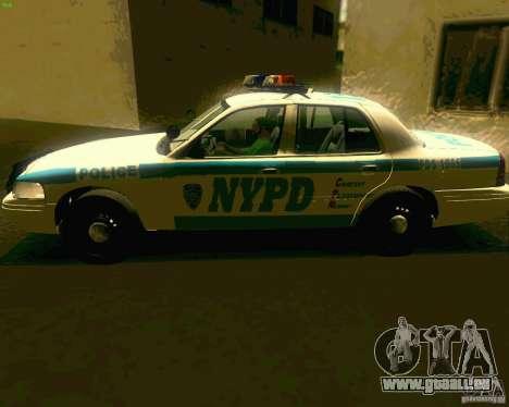 Ford Crown Victoria 2003 NYPD police pour GTA San Andreas sur la vue arrière gauche