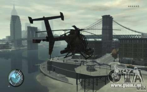 AH-6 Little Bird AcuDigital Camo pour GTA 4 est une gauche