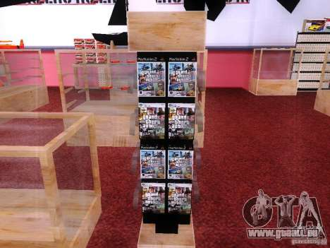 Disques avec la GTA en magasin zéro pour GTA San Andreas troisième écran