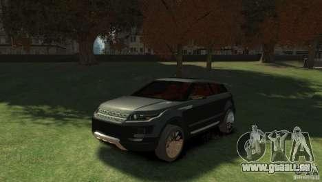 Land Rover Rang Rover LRX Concept pour GTA 4