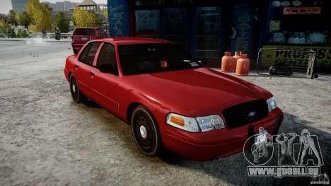 Ford Crown Victoria Detective v4.7 red lights pour GTA 4 est un droit