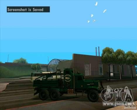 KrAZy Crocodile pour GTA San Andreas sur la vue arrière gauche