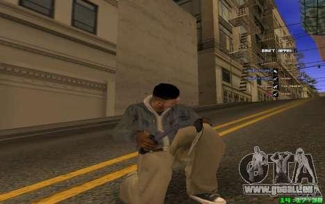 Brise-glace (bleu) pour GTA San Andreas deuxième écran