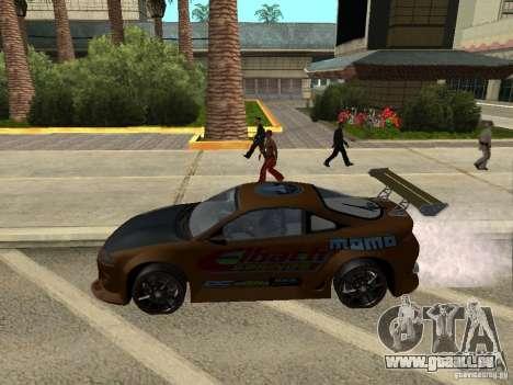 Mitsubishi Eclipse pour GTA San Andreas sur la vue arrière gauche