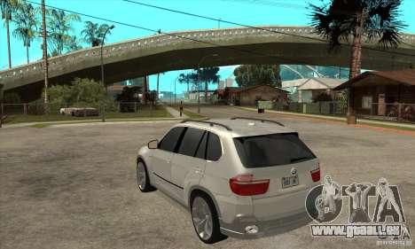 BMW X5 E70 Tuned für GTA San Andreas zurück linke Ansicht