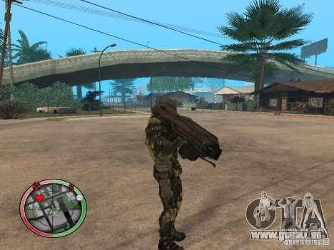 Armes exotiques de Crysis 2 v2 pour GTA San Andreas deuxième écran