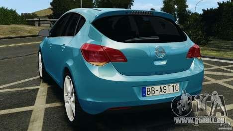 Opel Astra 2010 v2.0 pour GTA 4 Vue arrière de la gauche