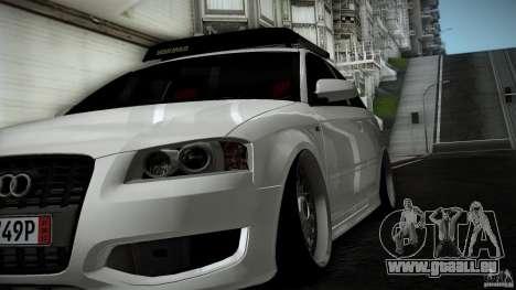 Audi S3 Euro für GTA San Andreas Rückansicht